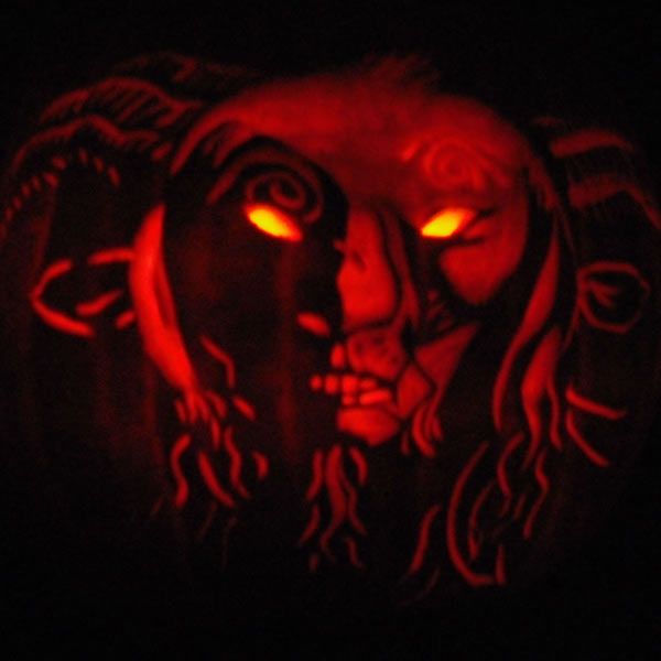 pumpkin carving contest satyr pan's labrynth