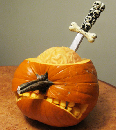 pumpkin carving contest pumpkin lobotomy