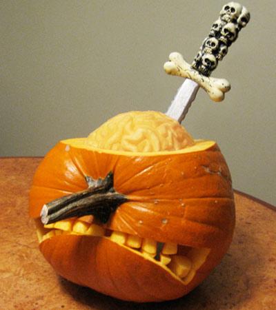 pumpkin carving contest pumpkin lobotomy
