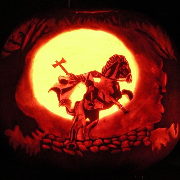 pumpkin carving contest headless horseman