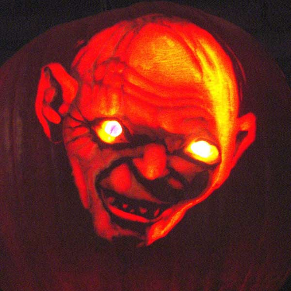 pumpkin carving contest gollum lord of the rings