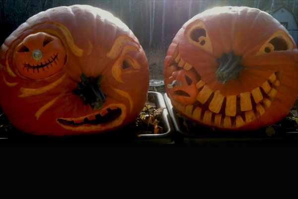 Pumpkin Cannibals from the 2012 this old house Pumpkin-Carving Contest Winners gallery