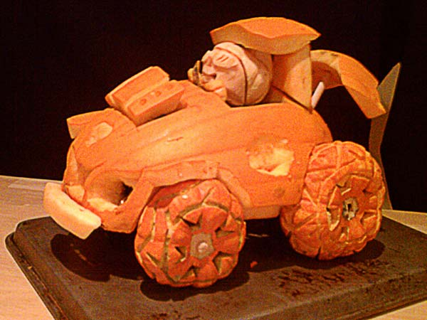 Tricked-Out Pumpkin Car from the 2012 this old house Pumpkin-Carving Contest Winners gallery
