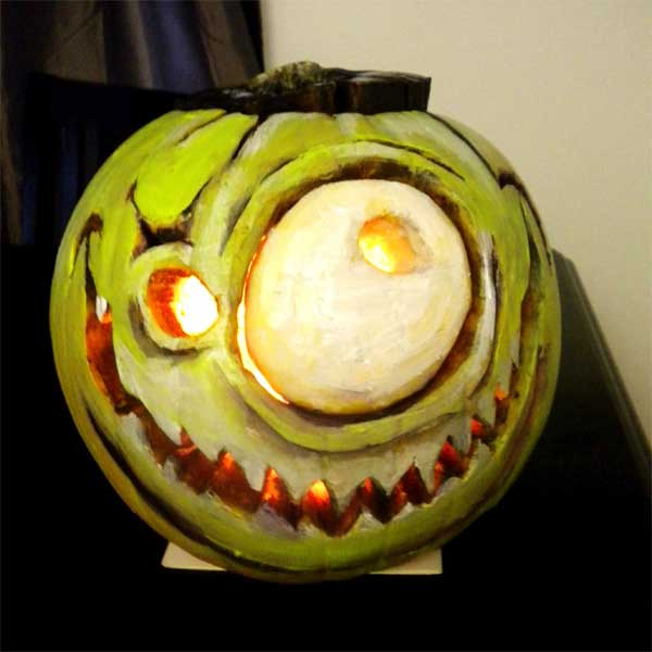 Franken-Pumpkin from the 2012 this old house Pumpkin-Carving Contest Winners gallery