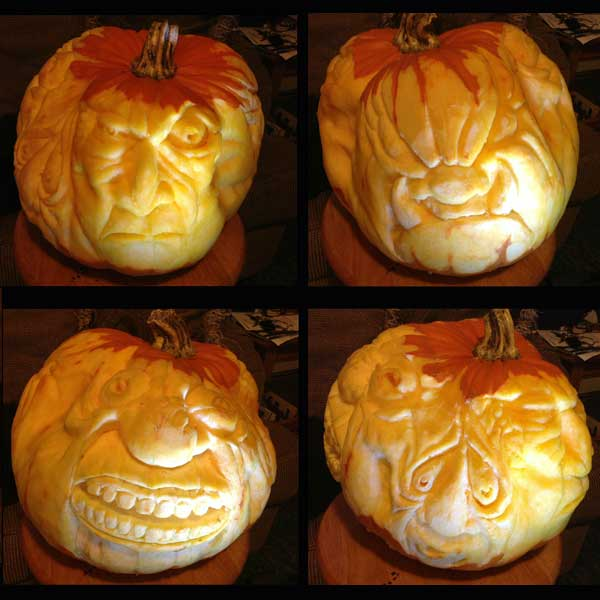 One Pumpkin, Four Faces from the 2012 this old house Pumpkin-Carving Contest Winners gallery