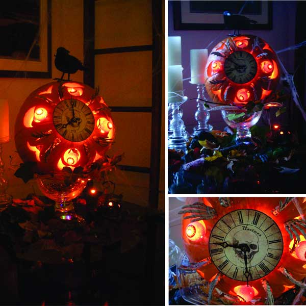 The Hands Of Time from the 2012 this old house Pumpkin-Carving Contest Winners gallery
