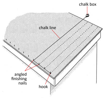 chalk lines for roofing shingles