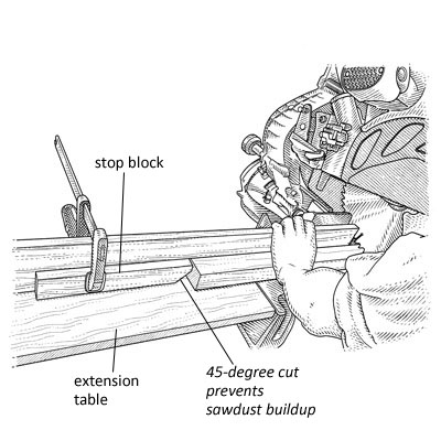 how to cut balusters