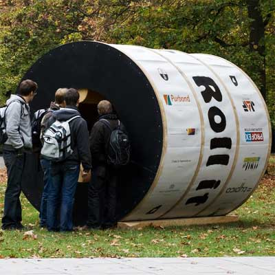 Roll-It Cylindrical Experimental Housing from world's wildest houses gallery nine