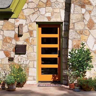 Orange Zest front door personalized with paint