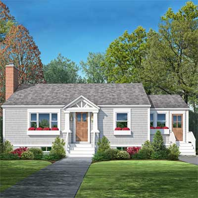 Landscaping the front of a small cape joy studio design for Small cape cod house