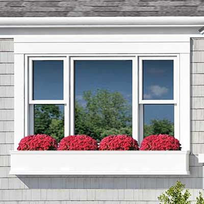 photoshop redo Window Trim for Perking up a Plain Cape Cod