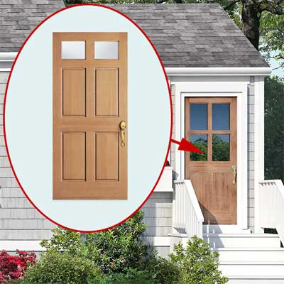 photoshop redo Entry Doors for Perking up a Plain Cape Cod