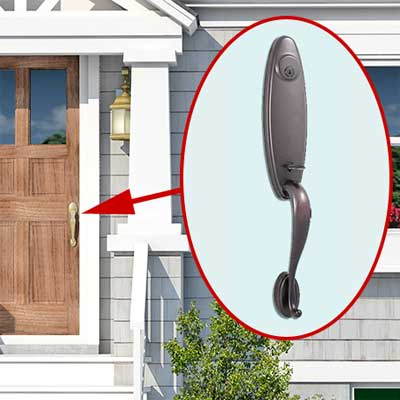 photoshop redo Door Handle for Perking up a Plain Cape Cod