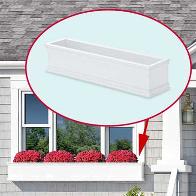 photoshop redo Window Box for Perking up a Plain Cape Cod