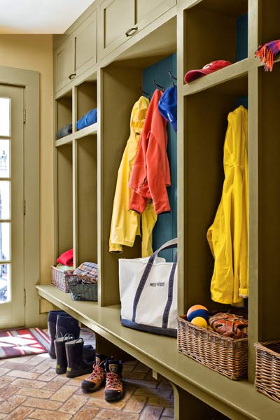 whole-house farmhouse remodel after mudroom storage