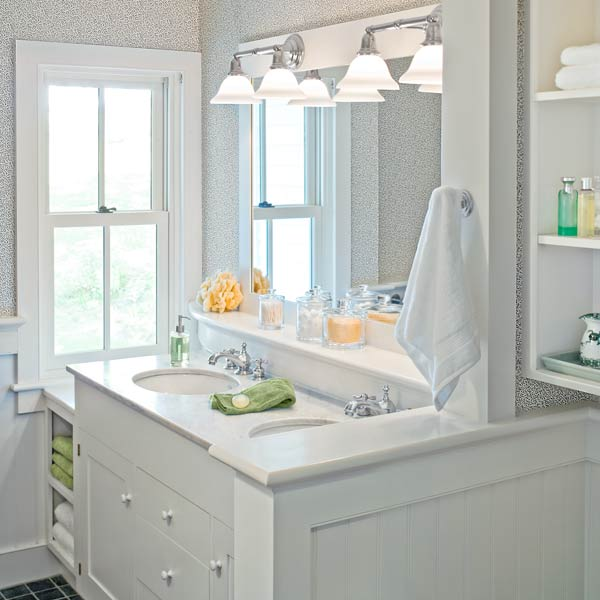 whole-house farmhouse remodel after master bath