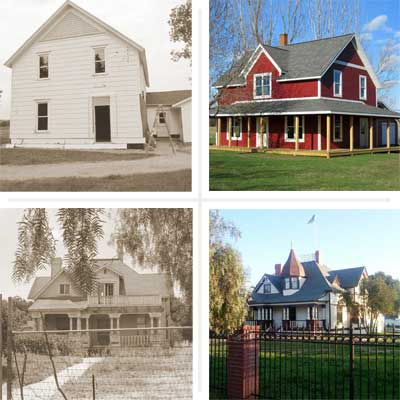 two before and after examples of houses remodeled from scary to spectacular