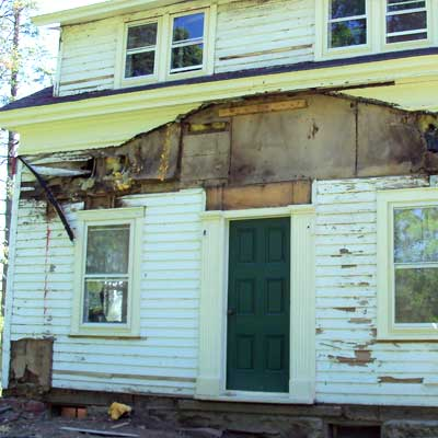 Before: Rotten Roof Removed for scary to spectacular remodels