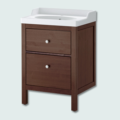 IKEA Hemnes vanity with Rattviken bath sink