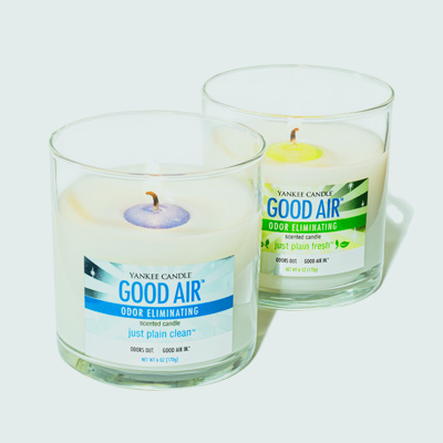 Yankee Candle Good Air line candles in Just Plain Clean and Just Plain Fresh