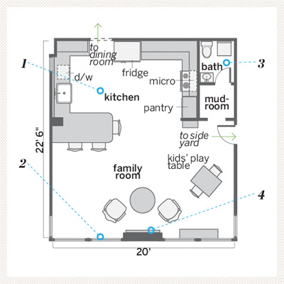 floor plan of kitchen remodel after