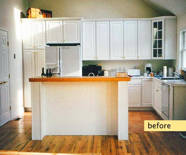 before of traditional kitchen remodel