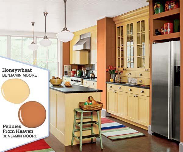 Warm harvest hues five no fail palettes for colorful for Kitchen colour palette ideas