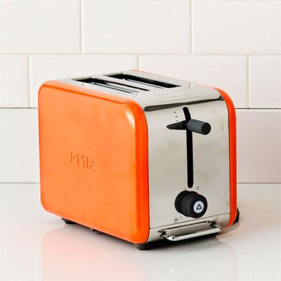 De Longhi tangerine toaster