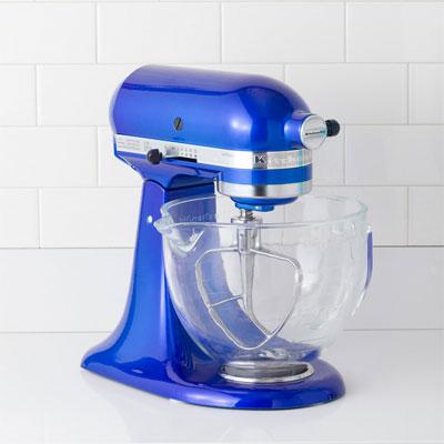 KitchenAid electric blue mixer