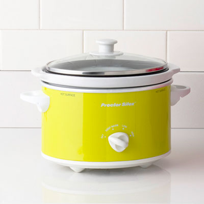 yellow slow cooker colorful small appliances this old house