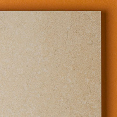 close up of high-end limestone floor tile edges from Stone Peak Ceramics