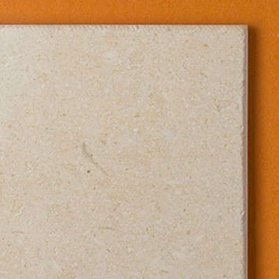 close up of budget limestone floor tile edges from Stone Tile Depot