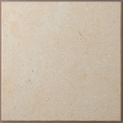 close up of budget limestone floor tile from Stone Tile Depot