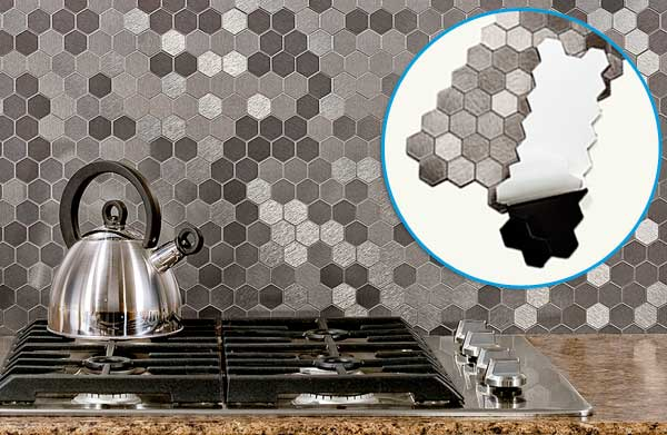 Top 100 Products 2012 kitchen peel-and-stick aluminum backsplash by ACP