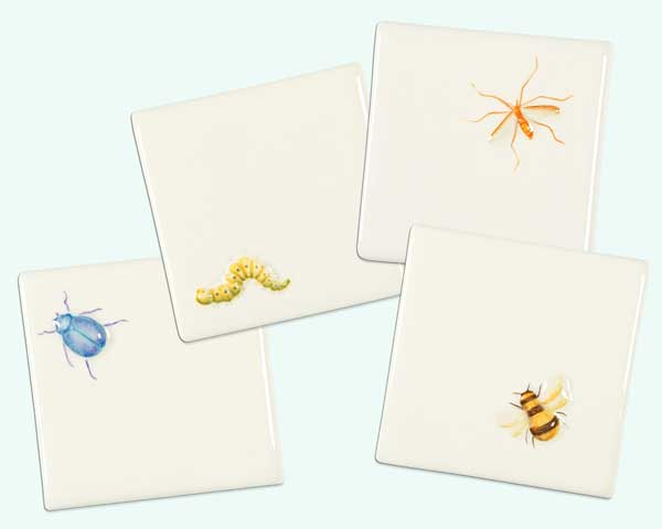 Top 100 Products 2012 bath tile with cartoon bugs by The Winchester Tile Company