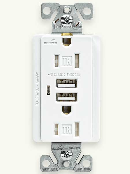 Top 100 Products 2012 tech usb charger with duplex receptacle