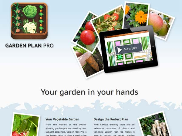 Top 100 Products 2012 outdoor living mobile app garden plan pro