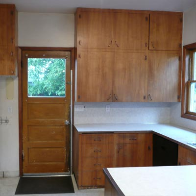 Paying Homage to the 1909 House: Before image for TOH Reader Remodel Kitchen 2012