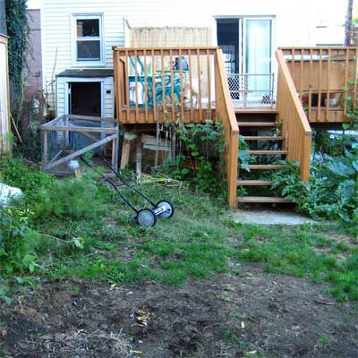 Spacious Vegetable Garden: Before  for the this old house reader remodel yard and garden winners 2012