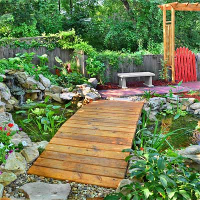 Serene Koi Pond: After  for the this old house reader remodel yard and garden winners 2012