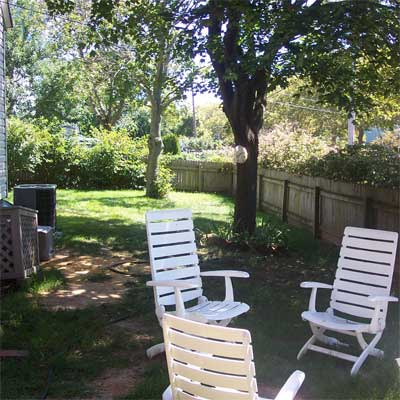 Fit for Entertaining: Before  for the this old house reader remodel yard and garden winners 2012
