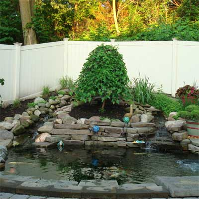 Koi Pond and Waterfalls: After for the this old house reader remodel yard and garden winners 2012