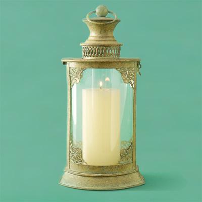 iron metal candle lantern