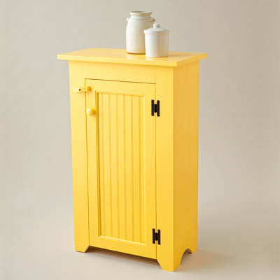 yellow painted jelly cupboard