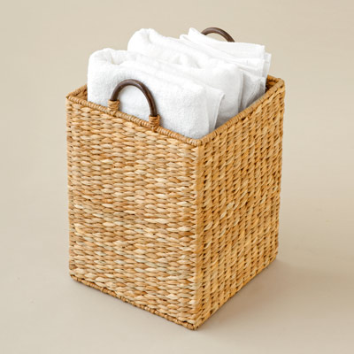 sea grass woven basket