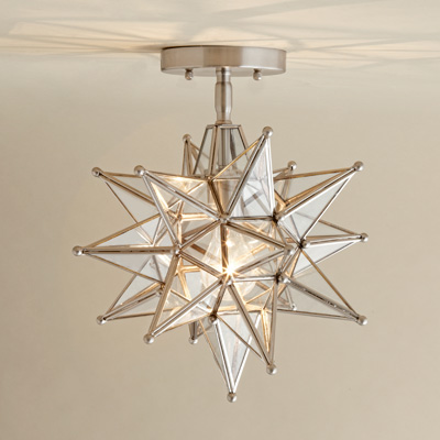 moravian star ceiling light in nicket finish