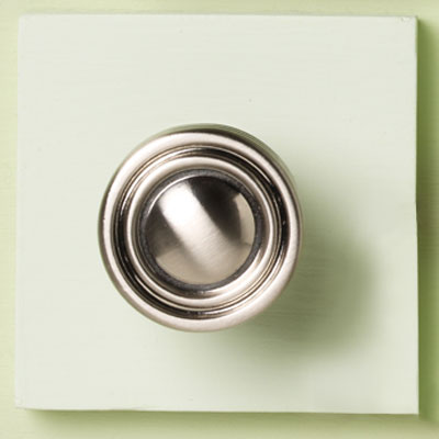 zinc cabinet knob with simple ring design