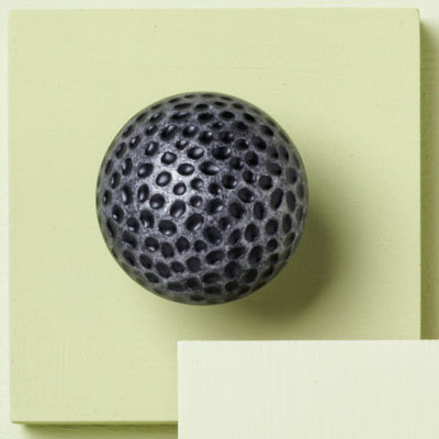 zinc cabinet knob with hammered design