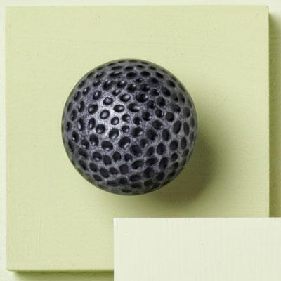 zinc cabinet knob with hammered design